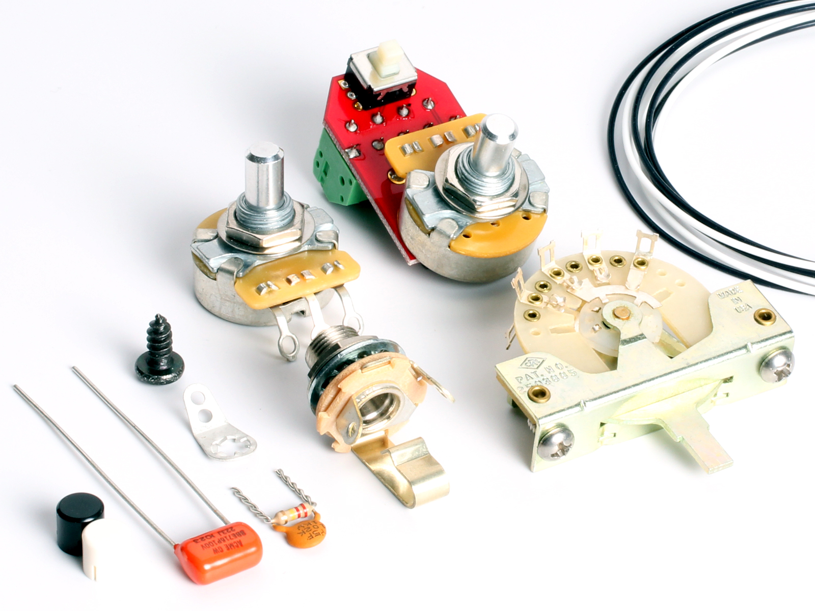 Best Telecaster Wiring Kit Electrical Diagrams Fender Broadcaster Diagram Toneshapers Hh4 Green Machine Vintage Kits