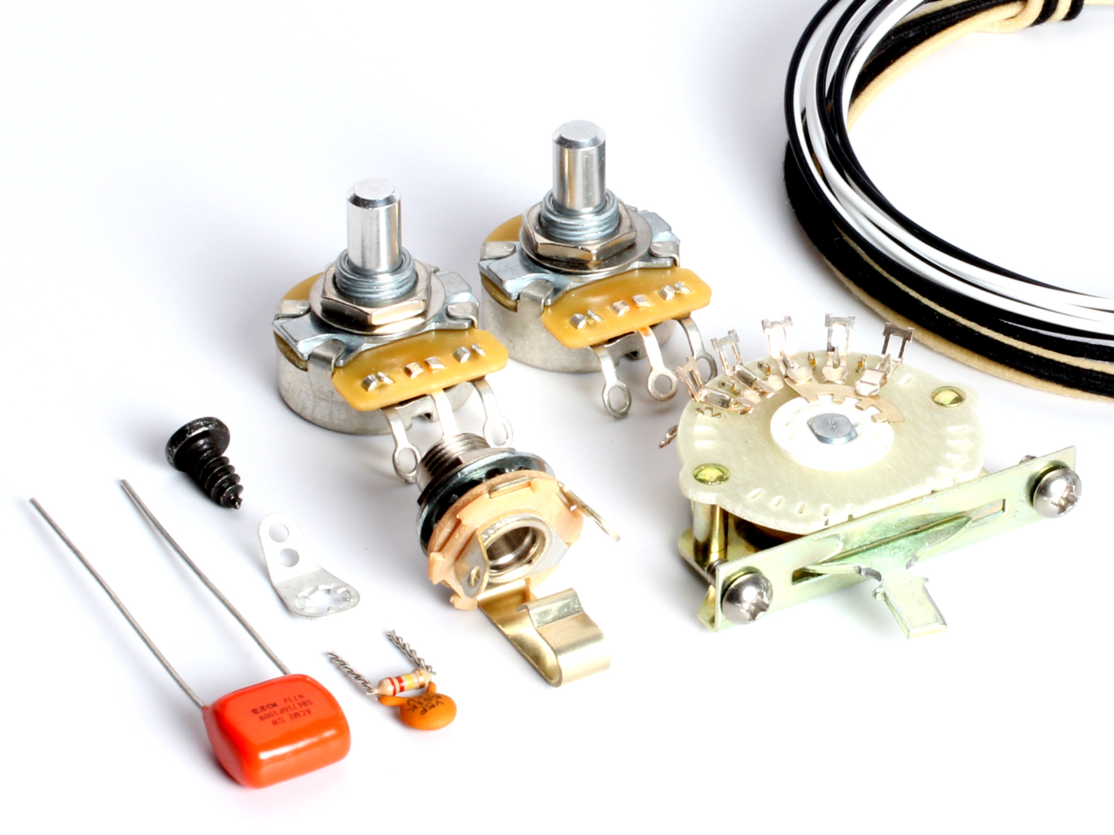 Stratocaster Wiring Kit - Solidfonts